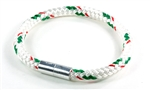 "Suki Nautical - 1/4"", White with Green-Red Stripe"