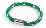 "Suki Nautical - 1/4"", Green with White-Red Stripe"