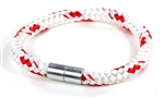"Suki Nautical - 5/16"", White with Red Stripe"