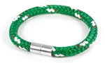 "Suki Nautical - 5/16"", Green with White-Red Stripe"