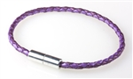 "Suki -  Solo 3mm (1/8"") Braided Leather Metallic Berry"