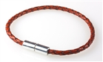 "Suki -  Solo 3mm (1/8"") Braided Leather Wine"
