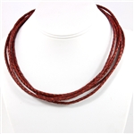 Cima Braided Leather Necklaces