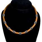 "Capri 925 Sterling Silver Braided Leather Necklaces - 6mm (1/4"") (1/4"")"
