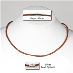 "Suki - 3mm (1/8"") (1/8') Round Leather Necklaces"
