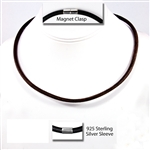 "Suki - 6mm (1/4"") (1/4"") Round Leather Necklaces"