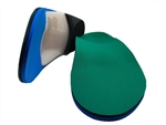 "Custom Made Orthotics Made with 1/8"" spenco with 1/8"" medical blue cushioned top cover"