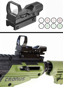 Reflex Red And Green Sight With 4 Reticles For tippmann cronus.