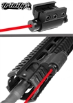 TRINITY Aluminum Red Laser For Tactical Paintball Guns.