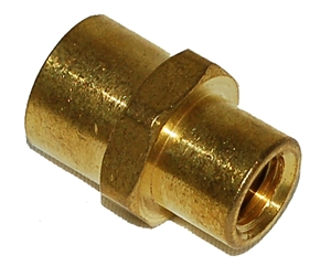"1/8""FTP X 1/4"" FPT Brass Female Coupling Reducer/FPC240"