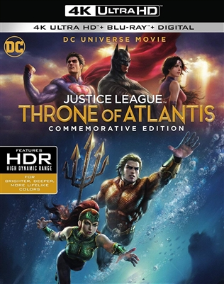 Justice League: Throne of Atlantis 4K UHD Blu-ray (Rental)