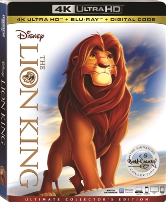 (Releases 2018/12/04) Lion King 4K UHD 11/18 Blu-ray (Rental)