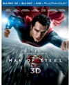 Man of Steel 3D Blu-ray (Rental)