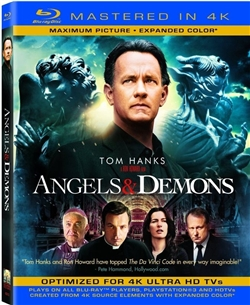 Angels & Demons Mastered in 4K Blu-ray (Rental)
