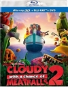 Cloudy With a Chance of Meatballs 2 3D Blu-ray (Rental)