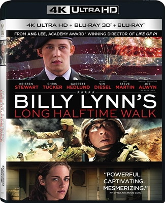 Billy Lynn's Long Halftime Walk 3D Blu-ray (Rental)