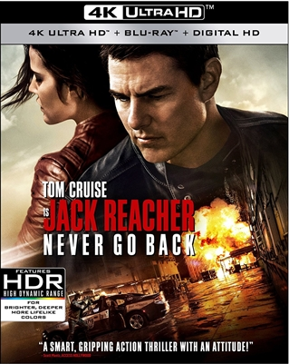 Jack Reacher: Never Go Back 4K UHD Blu-ray (Rental)