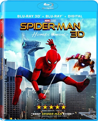 Spider-Man: Homecoming 3D Blu-ray (Rental)