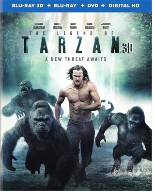 Legend of Tarzan 3D 08/16 Blu-ray (Rental)
