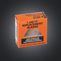 "Easy Cut Radius Tip 1.68"" Replacement Blades, Reduces Injuries"