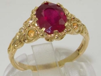 Stunning 14K Yellow Gold Ruby Solitaire Ring