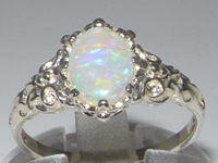 Superb Platinum Opal Solitaire Ring