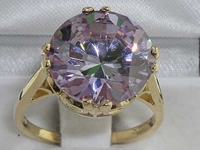 Stunning 9K Yellow Gold Synthetic Tanzanite Solitaire Ring