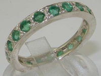 Stunning Sterling Silver Emerald Full Eternity Ring