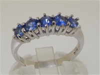 Beautiful Platinum Ceylon Sapphire Five Stone Ring