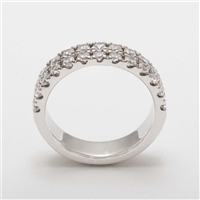 Beautiful Platinum 1.25ct Diamond Half Eternity Wedding Ring