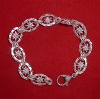 Small Double Sided Link Edelweiss Bracelet