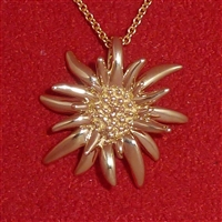 14K Gold Ladies' Medium Edelweiss Pendant