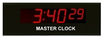 "Digital Display Systems Standard 2.5"" LED 6 Digit Master Clock"