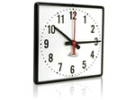 "Lathem SS12QF 12"" Square Semi-Flush Wired Synchronous Wall Clock"
