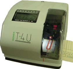 Widmer T-4U Electronic Time Clock / Time Stamp