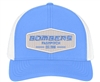 Bombers Fastpitch Carolina White Snap Back Hat