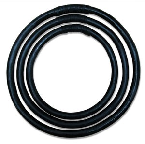 Wing Chun Training Ring Set - Rattan - 8, 10, 12 Inch Rings (Black)