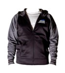 Everything Wing Chun - Sport-Tek Sport-Wick Varsity Fleece Full-Zip Hooded Jacket - Black/Grey