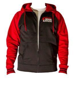 Everything Wing Chun - Sport-Tek Sport-Wick Varsity Fleece Full-Zip Hooded Jacket - Black/Red
