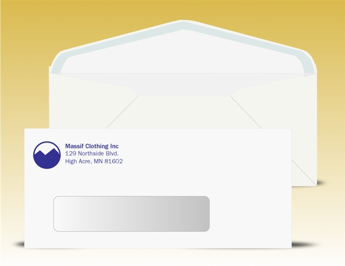 10 window envelopes 1 pms color print 11040pms ss for Window envelopes