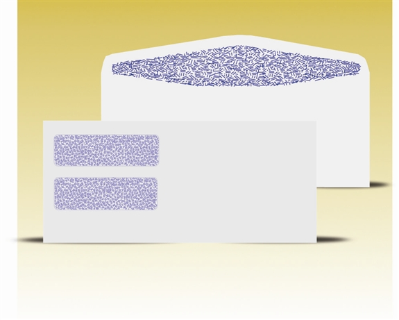 10 double window envelopes self seal gum 14055 ss