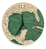Gulf of Mexico Real Wood Decorative Clock