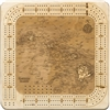 Hawaiian Islands Real Wood Decorative Cribbage Board