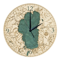 3D Lake Tahoe Real Wood Decorative Clock