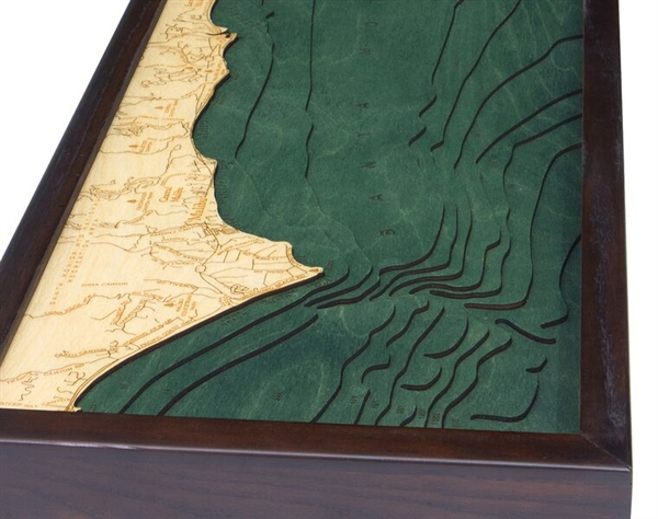 Buy 3D nautical wood chart