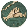 Martha's Vineyard Real Wood Decorative Clock