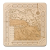 Santa Barbara Real Wood Decorative Cribbage Board