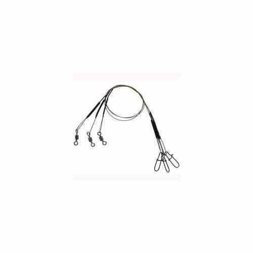 "Eagle Claw Black Steel Leader 3ct 9"" 20lb"