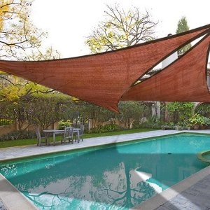 12 39 x 12 39 x 12 39 triangle sun sail shade for Shade sail cost