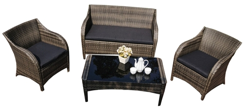 Mission Hills Collection 4pc Outdoor Wicker Patio Furniture Set